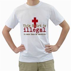 This Shirt Is Illegal Men s T-Shirt (White)