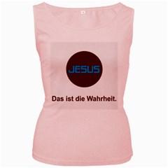 Jesus Das Ist Die Wahrheit Women s Tank Top (pink)