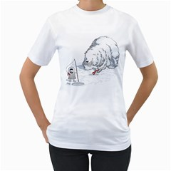Red Herring Women s T Shirt (white)