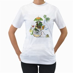 The Life Cycle Women s T Shirt (white)