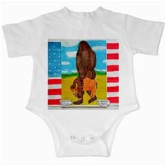 Big Foot,bison U,s,a, Flag Infant Bodysuit