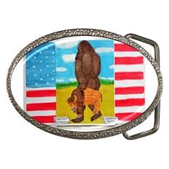 Big Foot,bison U,s,a, Flag Belt Buckle (oval)