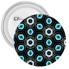 Pale Blue Elegant Retro 3  Button