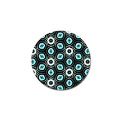Pale Blue Elegant Retro Golf Ball Marker 4 Pack