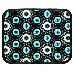 Pale Blue Elegant Retro Netbook Sleeve (Large)