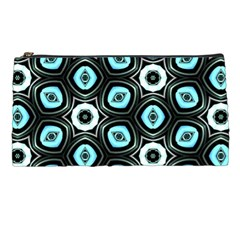 Pale Blue Elegant Retro Pencil Case