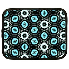 Pale Blue Elegant Retro Netbook Sleeve (XXL)