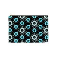 Pale Blue Elegant Retro Cosmetic Bag (Medium)