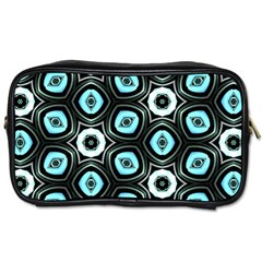 Pale Blue Elegant Retro Travel Toiletry Bag (two Sides)