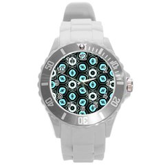 Pale Blue Elegant Retro Plastic Sport Watch (large)