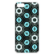 Pale Blue Elegant Retro Apple Iphone 5 Seamless Case (white)