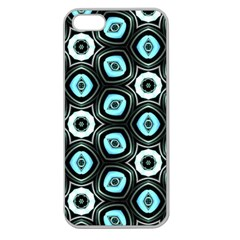 Pale Blue Elegant Retro Apple Seamless Iphone 5 Case (clear)