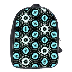 Pale Blue Elegant Retro School Bag (XL)