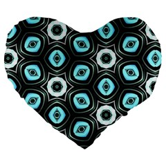 Pale Blue Elegant Retro 19  Premium Heart Shape Cushion