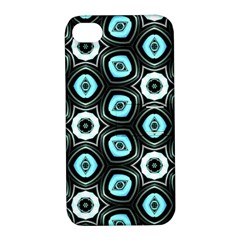 Pale Blue Elegant Retro Apple Iphone 4/4s Hardshell Case With Stand