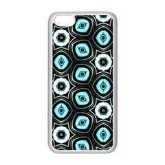 Pale Blue Elegant Retro Apple Iphone 5c Seamless Case (white)