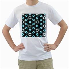 Pale Blue Elegant Retro Men s T-Shirt (White)