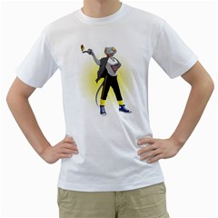 who s bad ? Men s T-Shirt (White)