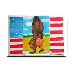 big foot,bison u,s,a, flag Small Door Mat