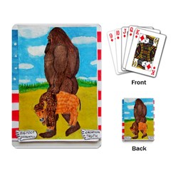 big foot,bison u,s,a, flag Playing Cards Single Design