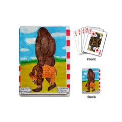 big foot,bison u,s,a, flag Playing Cards (Mini)