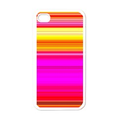 Colour Lines Apple iPhone 4 Case (White)