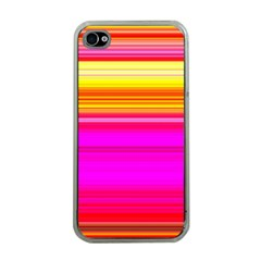 Colour Lines Apple iPhone 4 Case (Clear)
