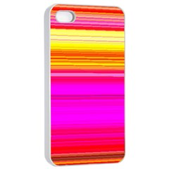 Colour Lines Apple iPhone 4/4s Seamless Case (White)