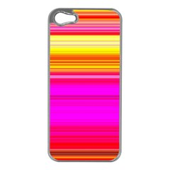 Colour Lines Apple Iphone 5 Case (silver)