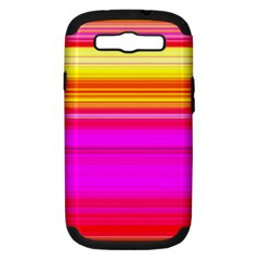 Colour Lines Samsung Galaxy S III Hardshell Case (PC+Silicone)