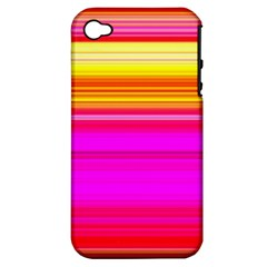 Colour Lines Apple iPhone 4/4S Hardshell Case (PC+Silicone)