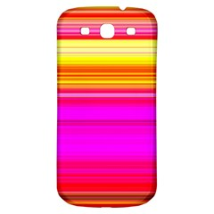 Colour Lines Samsung Galaxy S3 S Iii Classic Hardshell Back Case