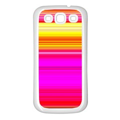 Colour Lines Samsung Galaxy S3 Back Case (White)