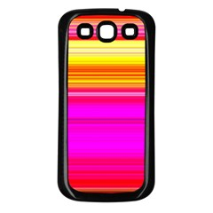 Colour Lines Samsung Galaxy S3 Back Case (Black)