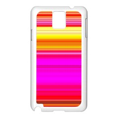 Colour Lines Samsung Galaxy Note 3 N9005 Case (White)
