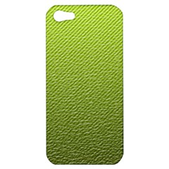 Green Lines Apple Iphone 5 Hardshell Case