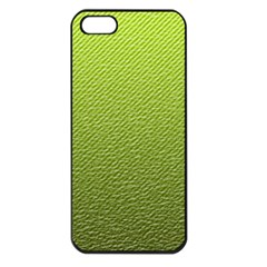 Green Lines Apple iPhone 5 Seamless Case (Black)