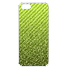 Green Lines Apple iPhone 5 Seamless Case (White)