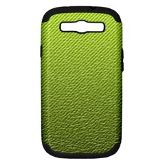 Green Lines Samsung Galaxy S Iii Hardshell Case (pc+silicone)