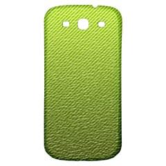 Green Lines Samsung Galaxy S3 S III Classic Hardshell Back Case