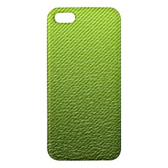 Green Lines Apple iPhone 5 Premium Hardshell Case