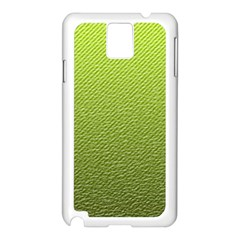 Green Lines Samsung Galaxy Note 3 N9005 Case (White)