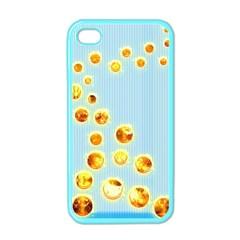 Fire Bubbles Apple Iphone 4 Case (color)