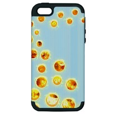 Fire Bubbles Apple Iphone 5 Hardshell Case (pc+silicone)