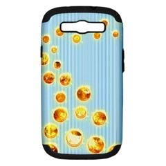 Fire Bubbles Samsung Galaxy S Iii Hardshell Case (pc+silicone)