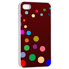 Bubbles Apple iPhone 4/4s Seamless Case (White)