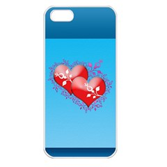 Hearts Apple iPhone 5 Seamless Case (White)