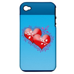 Hearts Apple iPhone 4/4S Hardshell Case (PC+Silicone)
