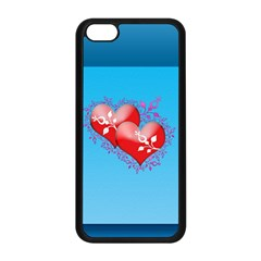 Hearts Apple Iphone 5c Seamless Case (black)