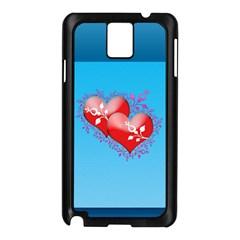 Hearts Samsung Galaxy Note 3 N9005 Case (black)